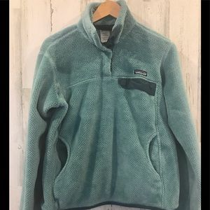 Womens Patagonia Button snap T fleece pullover